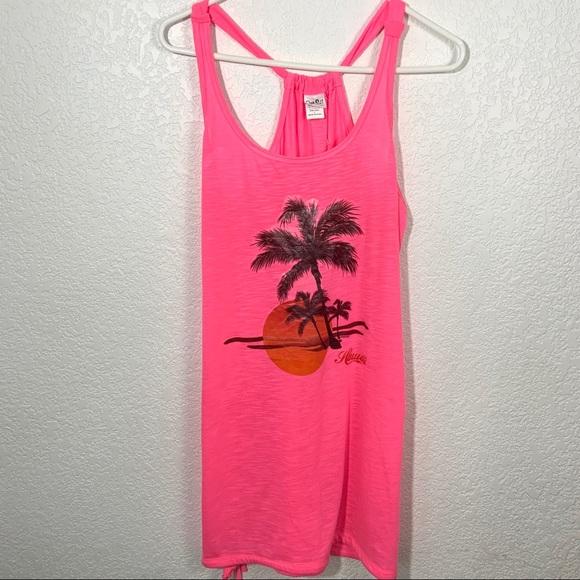 Baba Other - BaBa USA Neon Pink Swim Coverup Hawaii Large